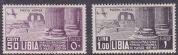 Italy-Colonies And Territories-Libya AP 30-31 1937 Opening Of The Coastal Road, Mint Hinged - Libya