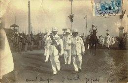 Unique Cpa Général Mangin,Mordrelle Et Gadel à Dakar Carte Photo Signée Oscar Lataque - Personnages