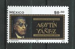 Mexico 2004 The 100th Anniversary Of The Birth Of Agustin Yanez, 1904-1980.Mexican Writer. MNH - Mexiko