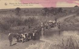 Missiën Der Paters Oblaten In Basutoland, Ossewagen Door De Rivier Trekkend  (pk54888) - Missions