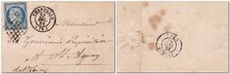 FRANCE 1851 - N°4 Sur Lettre Oblitération Grille Et CàD T15 CHAROLLES (70) TB - Marcophilie (Lettres)