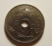 Belgium 25 Centimes 1927 Varnished - 1909-1934: Alberto I