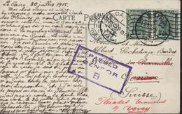 CP Campement Soldats Australiens Pyramides Hiver 1914 15 Guerre 14 YT 45 Cléopâtre X2 CAD Caire 31 7 15 Censure Censor - 1915-1921 Protectorat Britannique