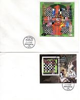 FDC 1.5.1982, Championnat Du Monde D'échecs, YT 1048 - 1051 Tenant - Plus Bloc 64 A,  Oblitéré, Lot 50950 - Libye