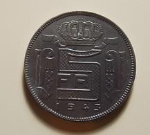 Belgium 5 Francs 1943 Varnished - 1934-1945: Leopold III