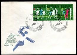 07352) DDR - Mi 1928 / 1930 = WZd 299 - FDC - ZD Hallenhandball-WM Der Männer - DDR