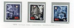 Malta - 1970 - Natale - 3 Valori - Nuovi - Vedi Foto - (FDC14029) - Malta