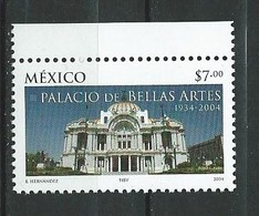 Mexico 2004 The 70th Anniversary Of Palace Of Arts.Architecture/Buildings. MNH - Mexiko