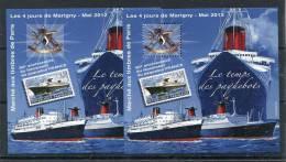 !!! NOUVEAU : LES 2 BLOCS DES 4 JOURS DE MARIGNY 2012 ** PAQUEBOT FRANCE - Blocs & Feuillets