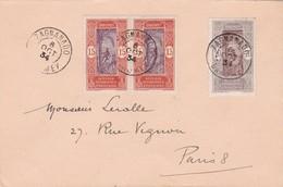 DAHOMEY - Superbe Cachet à Date Du 06/10/1934 De ZAGNANADO Sur Lettre Pour LERALLE à PARIS - Dahomey (1899-1944)