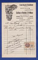 PARIS 10 EME  LOUIS  EISENSTEIN   LITS ET  MEUBLES  185 RUE ST MAUR  1929 TIMBRE FISCAL - Frankreich