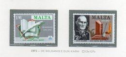 Malta - 1971 - De Soldanis E Dun Karm - 2 Valori - Nuovi - Vedi Foto - (FDC14030) - Malta