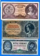 Hongrie  9  Billets - Hongrie
