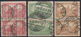 REICH GERMANIA - ALLEMAGNE -  1920 - Serie Completa Obliterata Yvert 112/115 In Coppie Unite Fra Loro - Usados