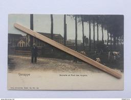 GENAPPE «SUCRERIE ET PONT DES ANGLAIS «Panorama Couleur,animée (1909)Édit NELS ,Série 76 / Nº 12. - Genappe