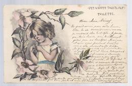 1901 - DES KINDES TAGESLAUF - TOILETTE (petit Fille, Little Girl) - à Rotsart De Hertaing - 1900-1949