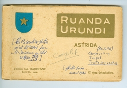 12 CP Astrida (Butare) Ruanda Urundi Jos Dardenne Carnet Série 2 L. Vers 1930 Ethnographie Rwanda Burundi - Ruanda-Urundi