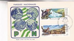PARQUES NACIONALES-FDC BUENOS AIRES 1989 CARD 2 DIFFERENT STAMPS- BLEUP - Altri