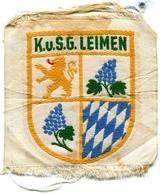 K.u.S.G.LEIMEN_Stemma In Tela-Vintage-cm 10 X11-Integra  Originale 100% Alb- - Leimen