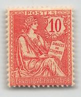 France, Frankreich, 1902, Mouchon II, 10 C, VT 124 **, NEUF, MNH, LUXUS - 1900-02 Mouchon