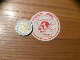 AUTOCOLLANT, Sticker «ALPHA ROMÉO - INTERNATIONAL DX CLUB - PERPIGNAN (66)» (Radio, CITIZEN BAND) - Autocollants