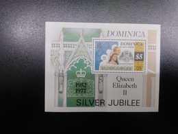 O) 1977 DOMINICA, QUEEN ELIZABETH II AND PRINCE  DUKE PHILIP. SILVER JUBILEE, REIGN OF ELIZABETH,  SCT 526, MNH - Dominica (1978-...)