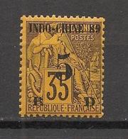 Indochine - 1889 - N°Yv. 2 - 5c Sur 35c Violet-noir Sur Jaune - Neuf ** / MNH / Postfrisch - Indochine (1889-1945)
