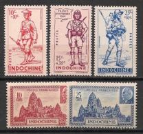 Indochine - 1941 - N°Yv. 219 à 223 - Complet - 5 Valeurs - Neuf Luxe ** / MNH / Postfrisch - Indochine (1889-1945)