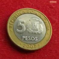 Dominicana 5 Pesos 2007 KM# 89 - Dominicana