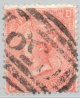 Great Britain Used Abroad Haiti 1866 4 D Vermillion Plate 8 Cancel C59 Jacmel Haiti - Postmark Collection
