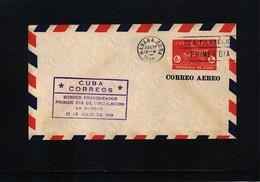 Cuba 1949 Postal Stationery Letter 8c FDC - Cuba