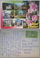 BAD ELSTER - Multiview - Albertbad - Rosengarten - Konig-Albert-Theater - Gondelteich M.Haus Am See - Scout Stamp Vg G2 - Bad Elster