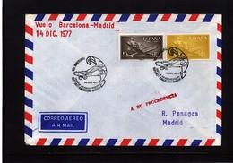 Spain 1977 Iberia Flight Barcelona - Madrid - 1971-80 Briefe U. Dokumente