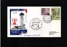 Italy / Italia 1983 Air France Flight Livorno - Paris - 6. 1946-.. Republik
