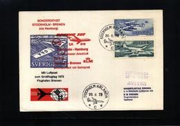 Sweden 1973 Lufthansa / KLM Special Flight Stockholm - Bremen - Briefe U. Dokumente