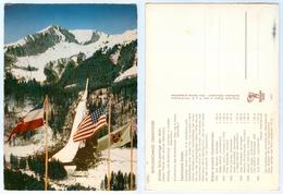 AK Heini-Klopfer-Schanze Skiflugschanze Oberstdorf Allgäu Fahnen USA Jugoslavija - Wintersport