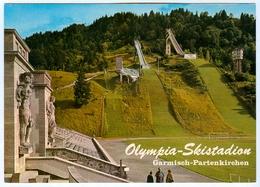 2) AK Skisprungschanze Garmisch-Partenkirchen Olympia-Skistadion Sportplatz DSV Deutschland Bayern Skispringen - Wintersport