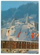 AK Skisprungschanze Garmisch-Partenkirchen Olympia-Skistadion Eckbauerbahn Fahnen Bayern Deutschland Skispringen - Wintersport