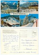 AK Skisprungschanze Garmisch-Partenkirchen Olympia-Skistadion Eislaufplatz Schi Bayern Deutschland Skispringen - Wintersport