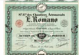 06-CHANTIERS AERONAVALS E.ROMANO. DECO. Aviation,Marine. CANNES - Other