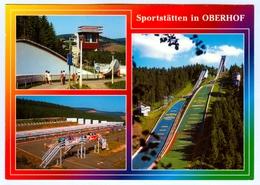 AK Skisprungschanze Kanzlersgrund Bobbahn Rodelbahn Biathlon Oberhof Thüringen DDR - Wintersport