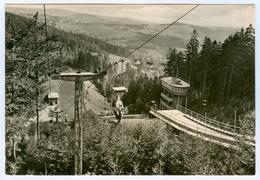 1) AK Skisprungschanze Klingenthal/Sa. Große Aschbergschanze Vogtland Sachsen DDR Skispringen Sessellift - Wintersport