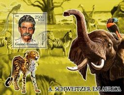 Guinea Bissau  2005 Fauna Of Africa & A. Schweitzer  Elephant  Zebra - Guinée-Bissau