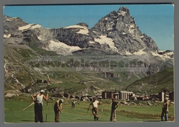 V9188 CERVINIA BREUIL CAMPO DI GOLF E MONTE CERVINO VG (m) - Italia
