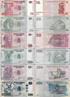 Congo Set 10+20+50+100+200+500 Francs - Pick 93-99 UNC Random Years - Congo
