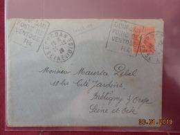 Lettre De 1929 A Destination De Bretigny Sur Orge.Obliteration Interessante - Marcophilie (Lettres)