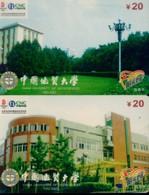China Netcom Chip Cards, China University Of Geosciences, Beijing City, (2pcs) - Cina