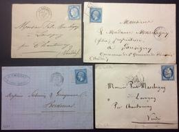 PL37 Charente Inférieure La Rochelle + Tonnay-Charente + St Jean D'Angély + La Rochelle - Postmark Collection (Covers)