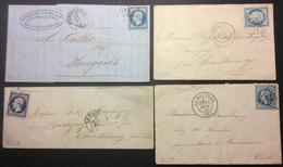 PL38 Charente Inférieure Rochefort Sur Mer + La Rochelle X 3 - Postmark Collection (Covers)