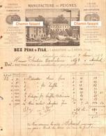 Beau Document Du 07/02/1878 BEZ Père & Fils - Manufacture De Peignes - Labastide-sur-L'hers  09 - Frankreich